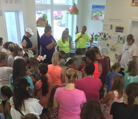 Standing room only at Jugglefish Gallery and Art Studio to hear Sue and Steve Ahern of the Sea Isle Terrapin Rescue explain why the local terrapin population is decreasing and how to help.