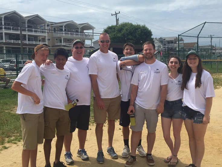 Many families return year after year to help volunteer. Shown are members of the Ruschel, Schray, Mulholland and Froelich families