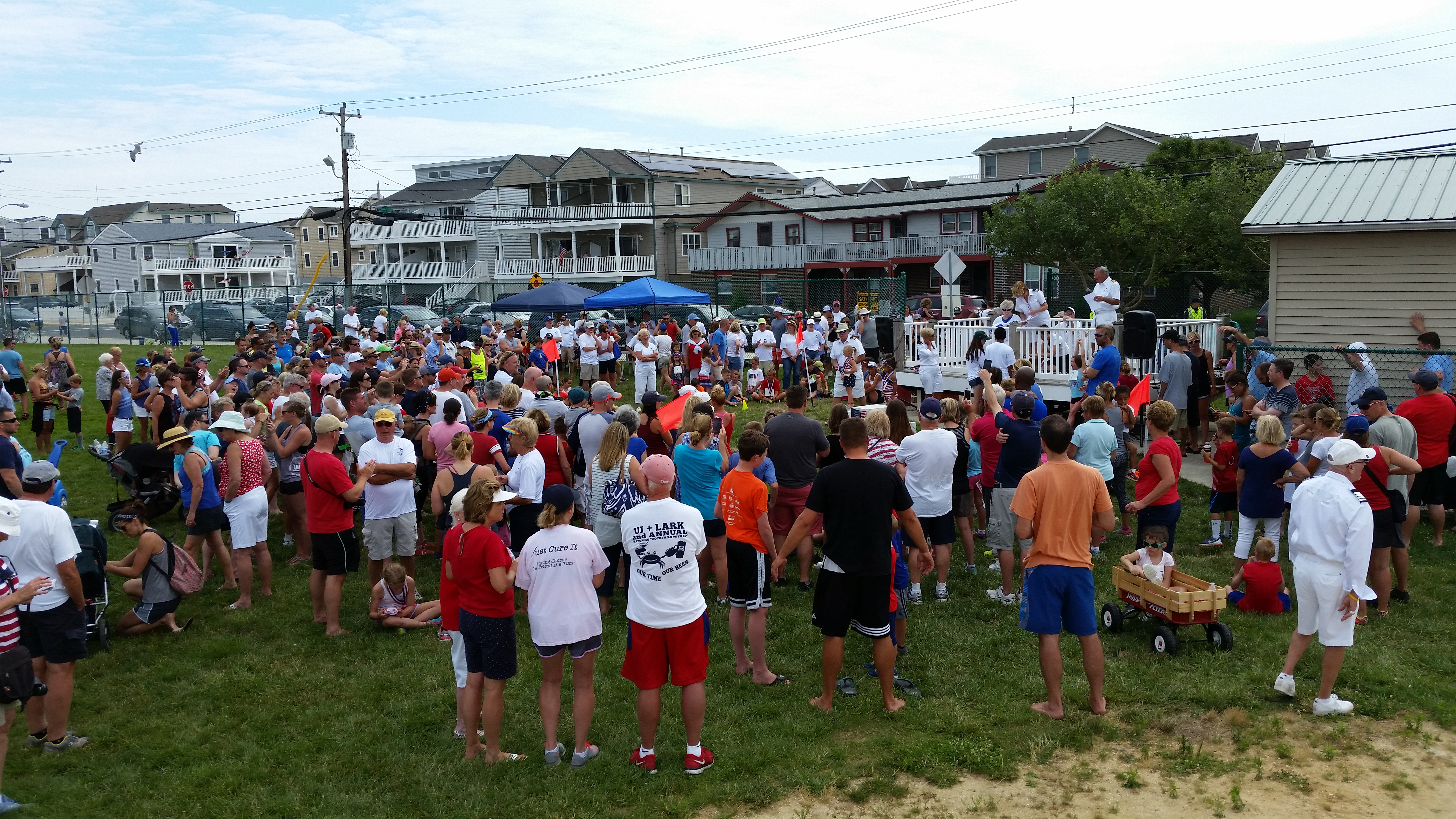 An estimated 600 to 700 children turned out for the Junior Olympics, a Fourth of July tradition in Sea Isle City.
