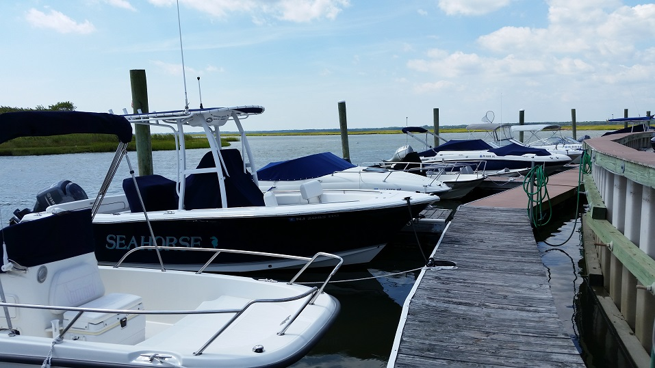 There are 32 boat slips at the club's picturesque location at the bayside tip of Venicean Road.