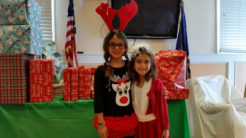Antonella DiAntonio, 9, and her 6-year-old sister, Arianna, who live in Sea Isle City, were dressed in Christmas costumes.
