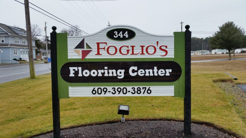Foglio's Flooring Center is located at 344 S. Shore Road in the Marmora section of Upper Township.