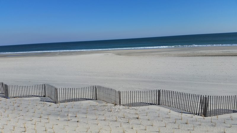 A $40 million beach replenishment project has created a wider shoreline, with thick powdery sand.