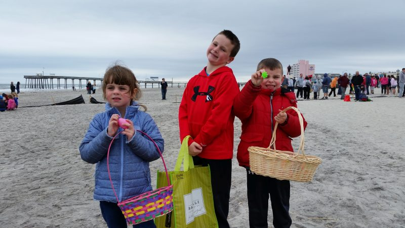 From left, Alaina Baily, 4, is joined by her 7-year-old cousin, Ryan Chiesa, and her 6-year-old brother, Liam.
