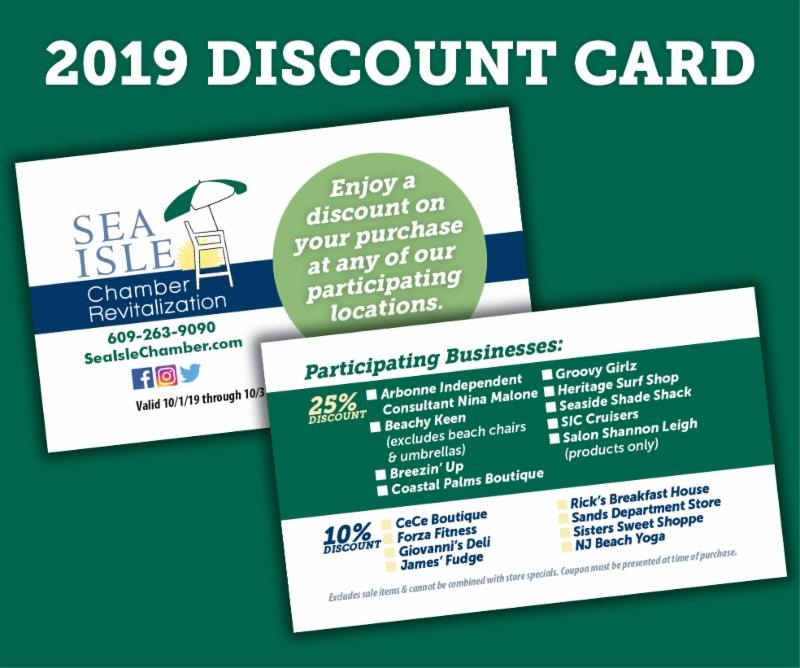 Chamber of Commerce to Offer Discount Shopping Cards   Sea Isle News